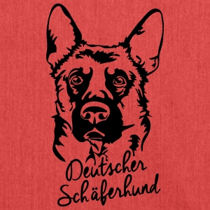 GERMAN SHEPHERD PORTRAIT - Shoulder Bag made from recycled material
