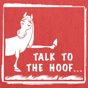 Talk to the Hoof shirt. - Shoulder Bag made from recycled material