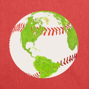 baseball earth planet globe erde globus - Schultertasche aus Recycling-Material