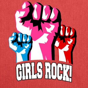 Girls Rock! For Strong Women - Shoulder Bag made from recycled material