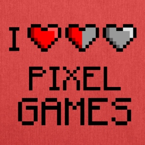 I LOVE PIXEL GAMES - Shoulder Bag made from recycled material