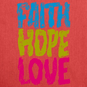 faith hope love - Shoulder Bag made from recycled material