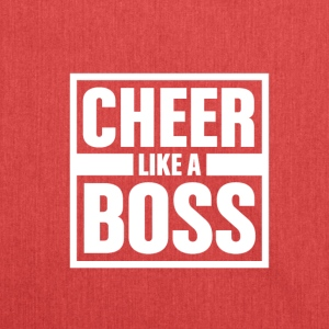 Cheer like Boss - Cheerleading - Schultertasche aus Recycling-Material