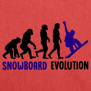 ++ ++ Snowboard Evolution - Shoulder Bag made from recycled material