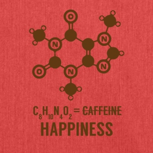 Periodensystem: C8 H10 N4 O2 = Happiness - Schultertasche aus Recycling-Material