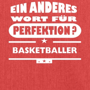 Basketballer Anderes Wort fuer Perfektion - Schultertasche aus Recycling-Material