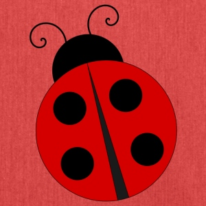 Ladybug with four black dots - Shoulder Bag made from recycled material