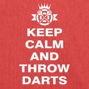 Keep Calm and throw darts - Shoulder Bag made from recycled material