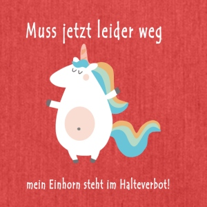 Unicorn Halteverbot - Schultertasche aus Recycling-Material