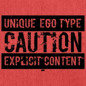 Unique Ego Type - Explicit Content Edition - Schultertasche aus Recycling-Material
