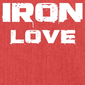 iron love white - Schultertasche aus Recycling-Material