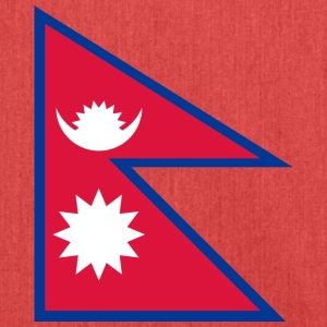Nationalflagge von Nepal - Schultertasche aus Recycling-Material