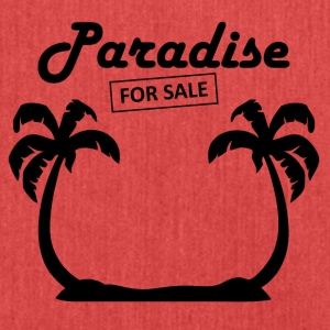 Paradise4sale blak - Shoulder Bag made from recycled material