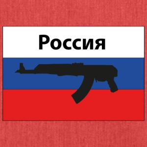Russia Flag AK 47 Kalashnikov - Shoulder Bag made from recycled material