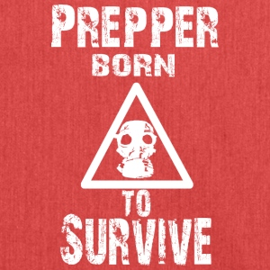 Prepper born to Survive - Shoulder Bag made from recycled material