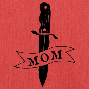 Knife Mom Tattoo - Shoulder Bag made from recycled material