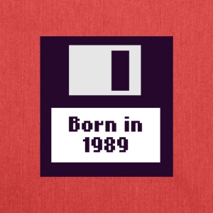 1989 Diskette Born - Schultertasche aus Recycling-Material