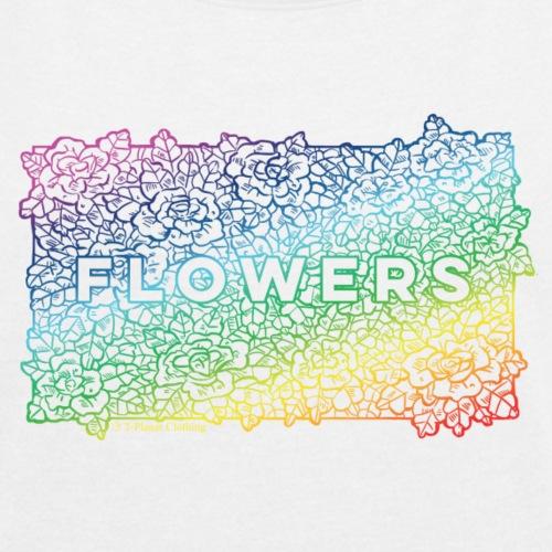 Flowers Rainbow - Maglietta da donna con risvolti
