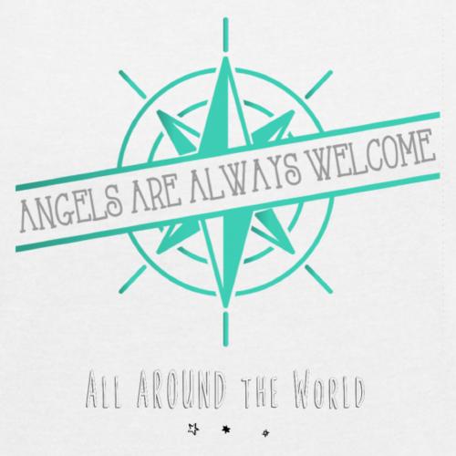 Angels are always welcome❤ SRI LANKA❤ - Frauen T-Shirt mit gerollten Ärmeln