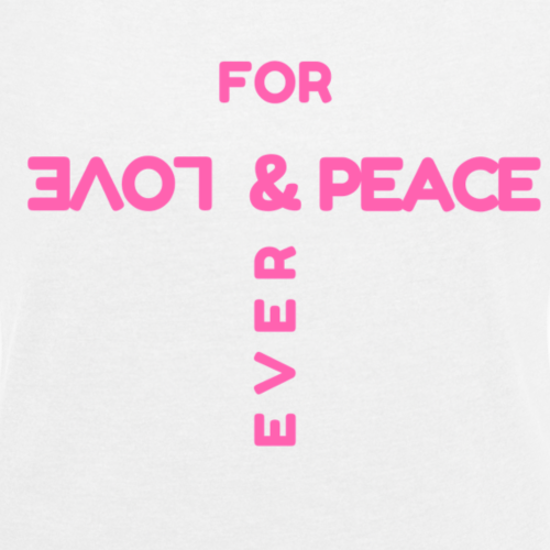 For ever LOVE & PEACE*GOA*TRANCE*FESTIVAL - Frauen T-Shirt mit gerollten Ärmeln