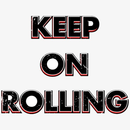 Keep on Rolling - Frauen T-Shirt mit gerollten Ärmeln