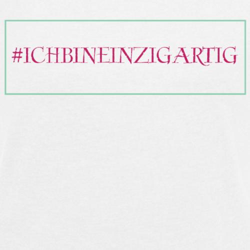 # ICH BIN EINZIGARTIG❤ MANTRA❤ ENERGIE❤ WOMAN - Frauen T-Shirt mit gerollten Ärmeln