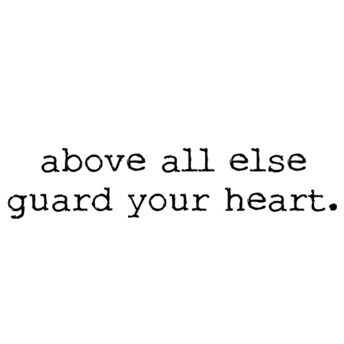 above all else guard your heart. - Women's T-Shirt with rolled up sleeves