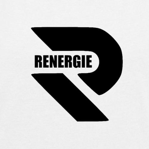 Renergie Logo Design. - Vrouwen T-shirt met opgerolde mouwen