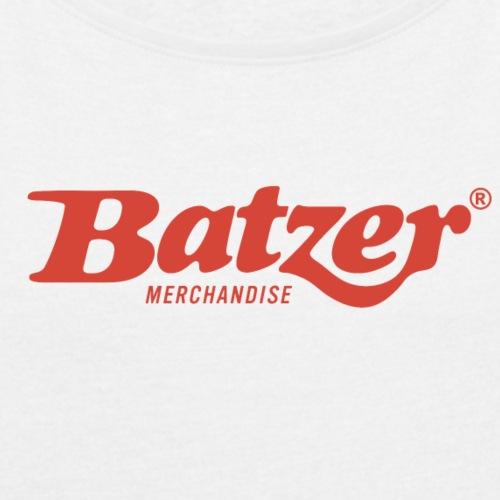 Batzer logo Rood - Vrouwen T-shirt met opgerolde mouwen