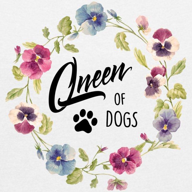 Vorschau: queen of dogs - Frauen T-Shirt mit gerollten Ärmeln