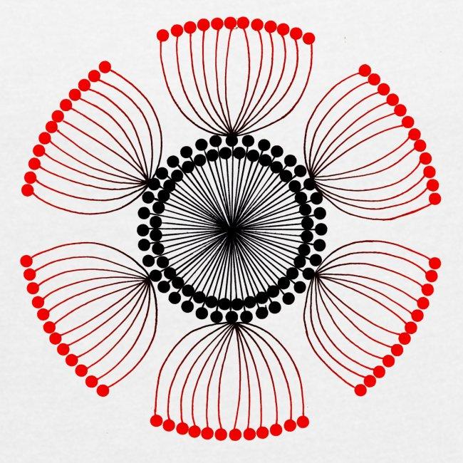 Red Poppy Seeds Mandala