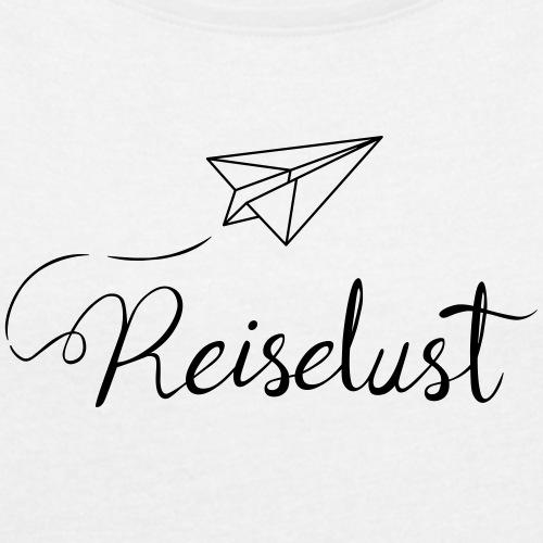 Reiselust - Frauen T-Shirt mit gerollten Ärmeln