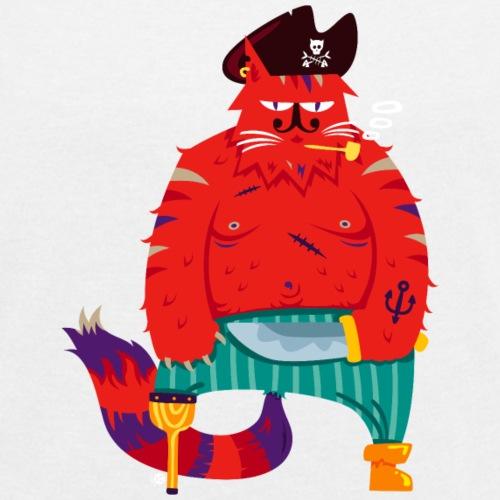 Chat Pirate Barbe-Rousse - T-shirt à manches retroussées Femme