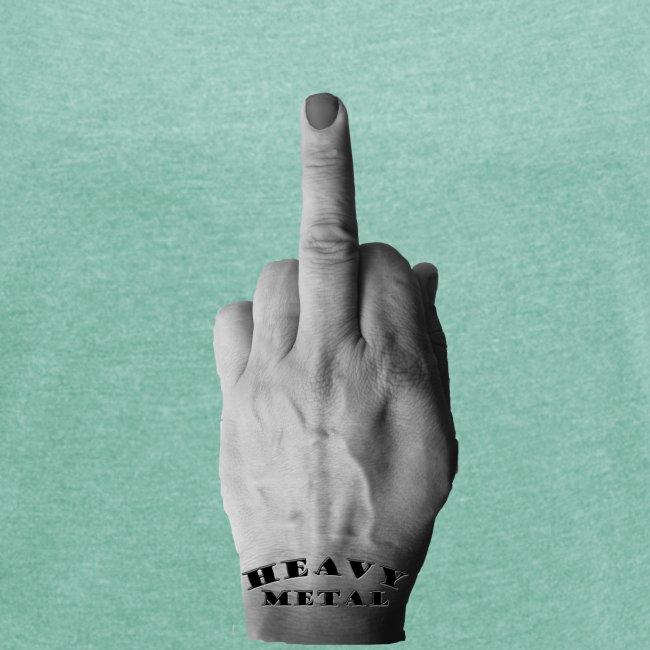 Heavy Metal middle finger