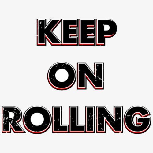 Keep on Rolling - Frauen T-Shirt mit gerollten Ärmeln