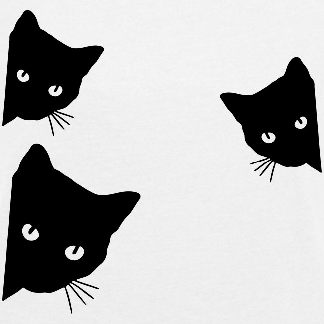 Vorschau: cats - Frauen T-Shirt mit gerollten Ärmeln