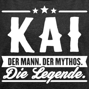 Man Myth Legend Kai - Women's T-shirt with rolled up sleeves