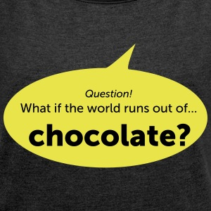 Chocolate - Women's T-shirt with rolled up sleeves