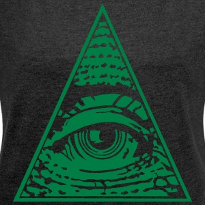 Eye of Providence - T-skjorte med rulleermer for kvinner