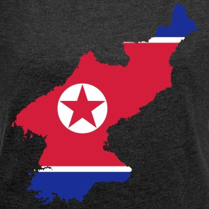 North Korea - Women's T-shirt with rolled up sleeves