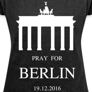BERLIN mourns - Women's T-shirt with rolled up sleeves