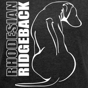 RHODESIAN RIDGE BACK PROFILE - Women's T-shirt with rolled up sleeves