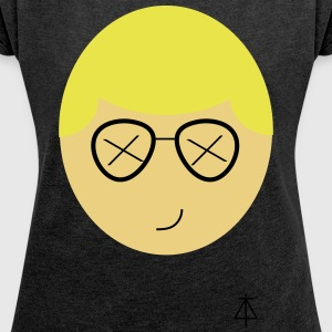 tough emoji - Women's T-shirt with rolled up sleeves