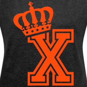 Letter X - Women's T-shirt with rolled up sleeves