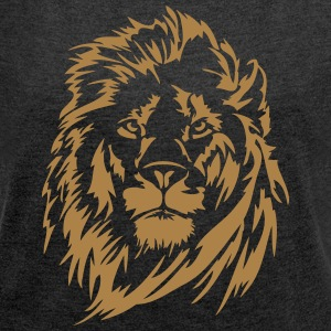 lion - Women's T-shirt with rolled up sleeves