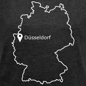 place to be: Dusseldorf - Women's T-shirt with rolled up sleeves