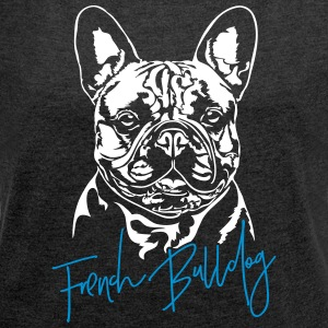 FRENCH BULLDOG - Women's T-shirt with rolled up sleeves