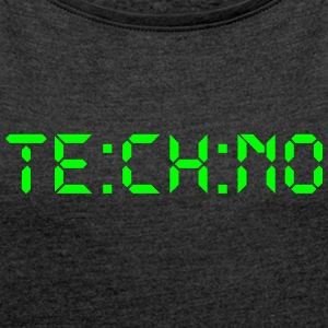 Techno Digital - Women's T-shirt with rolled up sleeves