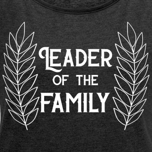 family head - Women's T-shirt with rolled up sleeves