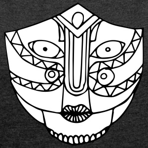 The look of the mask - Women's T-shirt with rolled up sleeves
